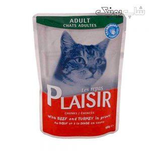 غذای پوچ گربه پلازیر مدل بیف