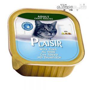 کنسرو غذای گربه پلازیر مدل تن وزن 100 گرم