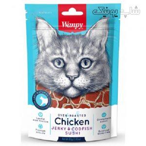 غذای تشویقی گربه ونپی طعم codfish&chicken